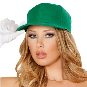 Green Baseball Style Hat Adjustable Cap